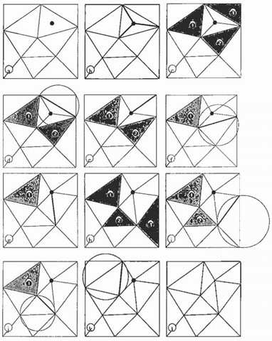 Lawson's Delaunay algorithm.