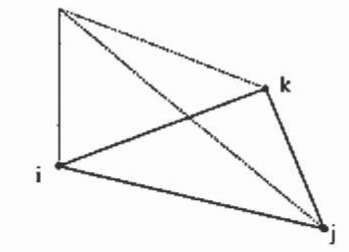 2D triangular nodal element with linear shape function.