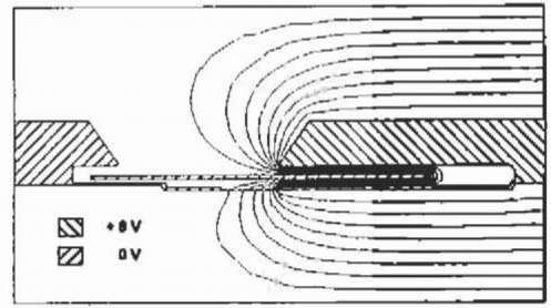 Potential solution of the radial cross-section of the axial field motor.